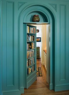 Secret door...wouldn't it be cool to have one of these with a cozy room full of books on the other side?!!