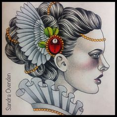 Roughly working out shading etc. Up for grabs at Sydney convention…. #woman #wings #tattoo #vintage #sandraovenden