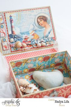 By The Sea Book Box for the Stones with Graphic 45 (Snapguide Tutorial) Nadya Tana Lifa