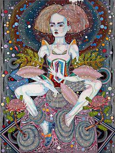 Del Kathryn Barton, Openly song, 2014, Acrylic on linen, 244 × 183 cm, BART0001