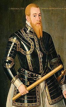 Portrait of Erik XIV (1533-1577) of Sweden, who was a suitor to the young Queen Elizabeth I. Later in life, he went mad.