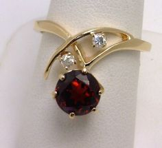 14k garnet and diamond ring benchmarkgembrokers.com