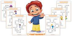 Cruciverba Matematici con Addizioni e Sottrazioni Preschool Math, Kindergarten, Maths, Kids Learning, Family Guy, Fictional Characters, Homeschooling, German, Puzzle