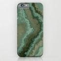 iPhone & iPod Case green texture abstract by Christine Baessler