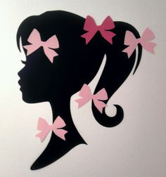 Pin the Bow on Barbie Silhouette Party von FreshCutsbyLauriBeth