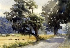 Ole Torkelson Road by Mike Kowalski Watercolor ~ 7 x 10