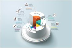 Business Infographics Step Circle by Graphixmania on @creativemarket