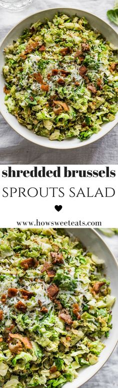 The best Shredded Brussels Sprouts Salad I howsweeteats.com