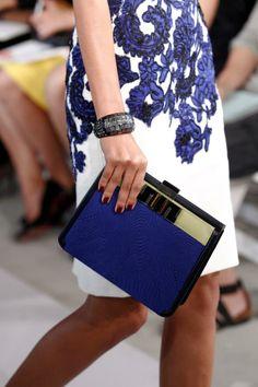 Marelia clutch with swiss embroidery, Oscar de la Renta.