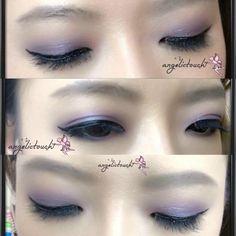 Glowy purple #angelictouch_makeupandhair #angelkikicheng #makeupartist #angelictouch_makeupandhair #your_angelskin #eyemakeup #glowypurple