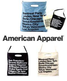 アメリカンアパレル トートバッグ American Apparel シティバッグ #シータ・ミュー