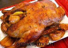 Рецепт запеченной утки с яблоками