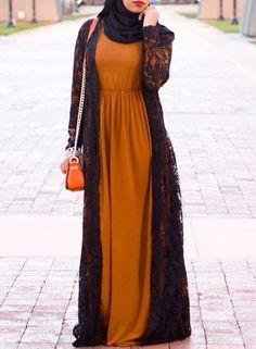 Basic Sleeved Maxi Dress