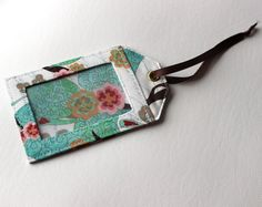 Ready to Ship One 3 by 5 luggage tag by StudioCherie on Etsy