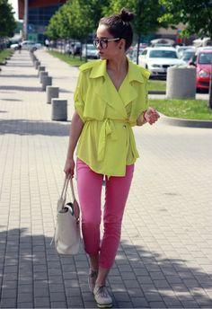 lemon and pink
