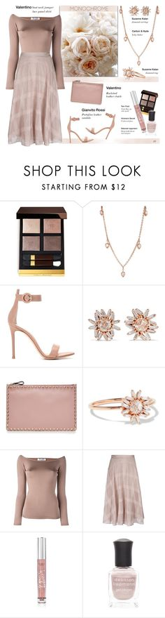 """""""Untitled #1225"""" by louise-stuart ❤ liked on Polyvore featuring Tom Ford, Carbon & Hyde, Gianvito Rossi, Suzanne Kalan, Valentino, Victoria's Secret, Deborah Lippmann and monochrome"""