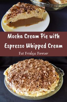 Rich chocolate cream pie packed with coffee flavor