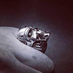 #terminator #t800 #silverrings #silver #egyediékszer #egyediajándék #masterpiece  www.ekszercenter.hu