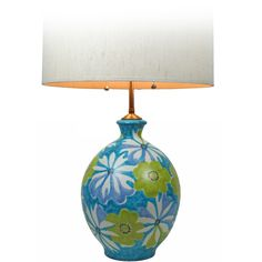 Italian Ceramic Table Lamp for Raymor | From a unique collection of antique and modern table lamps at http://www.1stdibs.com/furniture/lighting/table-lamps/