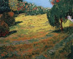 Sunny Lawn in a Public Park - July 1888, Arles Oil on canvas, 61 x 74 cm Private collection
