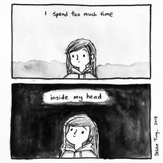 Debbie Tung's sketches of everyday life, comics and illustrations. Introvert Quotes, Infj, Vent Art, My Bubbles, Sad Art, Describe Me, Mood Quotes, Poetry Quotes, Quotes Quotes