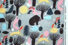 Marimekko fabric, Pikku Huhuli, 50x145cm, by Aino-Maija Metsola