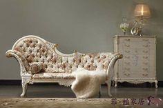 Antiguos tallados a mano muebles madera-madera maciza artesanal realeza chaise…