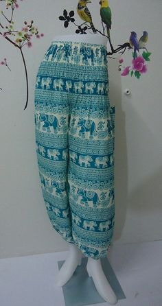 Hey, I found this really awesome Etsy listing at https://www.etsy.com/listing/190078454/light-blue-elephants-trouser-harem-ali