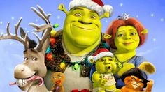 shrek donkey princess fiona shrek jr. & puss in boots from shrek the halls