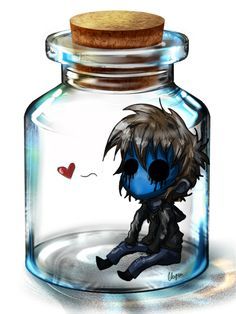 Eyeless Jack in a Bottle. Why is Eyeless Jack in a bottle? Eyeless Jack, Jeff The Killer, Familia Creepy Pasta, Creepy Pasta Family, Ben Drowned, Laughing Jack, Creepypasta Chibi, Creepypasta Wallpaper, Creepypastas Ticci Toby