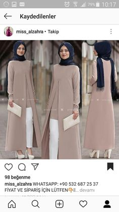 Photos and Videos - AmigurumiHouse Islamic Fashion, Muslim Fashion, Modest Fashion, Fashion Dresses, Casual Hijab Outfit, Hijab Chic, Modest Dresses, Modest Clothing, Mode Abaya