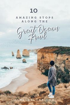 10 amazing places to stop on a road trip along The Great Ocean Road in Victoria, Australia. From waterfalls, to bush walks, to lighthouses and beautiful National Parks. This post contains information about things to Tasmania Australia, Australia Tours, Australia Travel Guide, Visit Australia, South Australia, Melbourne Australia, Perth, Brisbane, Sydney