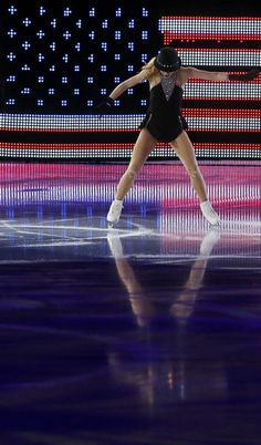 Gracie Gold of the U.S. performs during the Figure Skating Gala Exhibition at the Sochi 2014 Winter Olympics, February 22, 2014.