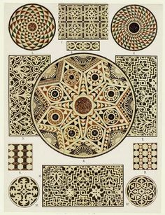 Byzantine marble mosaic floors, Cathedral of Ravenna & San Vitale, 1914-15. From Koehler's Antiquarium: Coloured ornament of all historical styles, with coloured plates from own paintings in water colours, Leipzig Alexander Speltz http://41.media.tumblr.com/0316b3800b5fbdd9262edb26109b14d9/tumblr_n88eh5IWQn1rpgpe2o2_r1_1280.jpg