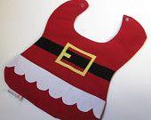 $11 Santa pocket baby's bib