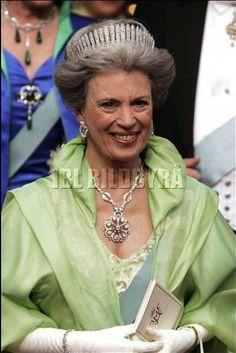 Princess Benedikte at the wedding of her nephew