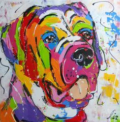 Schilderijen Pieternel Horse and Animal Portraits - Yahoo Image Search Results Dog Paintings, Pet Portraits, Mixed Media Art, Art Projects, Abstract Art, Cartoons, Elephant, Horses, Dogs