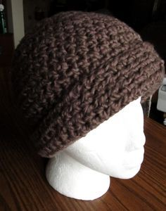 Simple Crochet Hat from me, LazyT. Happy Holidays!  1 skein Nature's Choice Organic Cotton from Lion Brand Yarn (walnut color shown)  J (6 m...