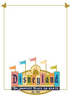 """Disneyland (retro logo) - Project Life Disney Journal Card - Scrapbooking ~~~~~~~~~ Size: 3x4"""" @ 300 dpi. This card is **Personal use only - NOT for sale/resale** Logos/clipart belong to Disney. ***Click through to photobucket for more versions of this card!!***"""
