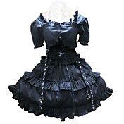 Cool Short Sleeve Short Black Cotton Punk Lol... – USD $ 99.99