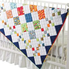 Diamond Patch Baby Quilt Pattern NEW~9-patch~Easy & Fast~Scrappy~queen twin #415 #PleasantValleyCreations