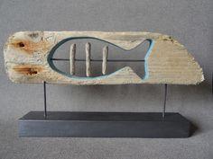Décoration poisson et ses arrêtes en bois flotté : Accessoires de maison par c-driftwood