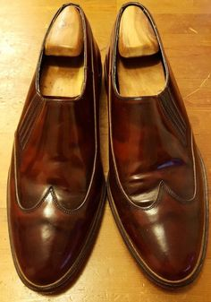 Vintage, Stacy Adams, Burnished Brown, Patent Leather, Loafer/Wing Tips (Sz 11)…