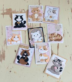 Atc Cards, Card Tags, Paper Cards, Marianne Design Cards, Spellbinders Cards, Paper Animals, Shrink Art, Cat Crafts, Animal Cards