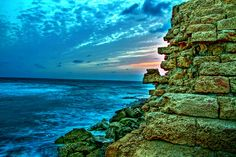 Sunset at Caesarea, Israel (Explored March 31, 2013) by BennyM Photography, via Flickr