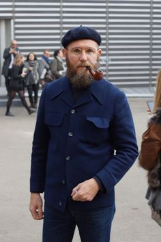 """Alessio Berto  from #meoutfit # 965 """"Smoking a pipe in #Pitti """" jan 2013"""