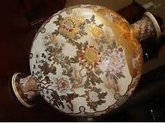 "... about Antique Japanese Satsuma Moon Flask Vase 19.5"" H, Meiji, 19th C"