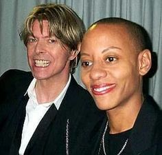 David Bowie with guitarist Gail Ann Dorsey