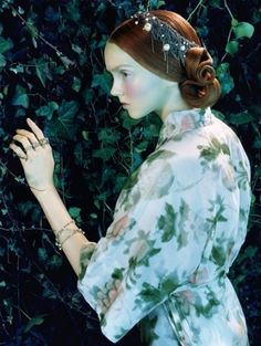 Lily Cole by Miles Aldridge for Vogue Italia 2005
