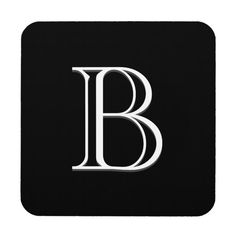 Shop Personalized Monogrammed Initial Black & White Beverage Coaster created by Beachpause. Personalize it with photos & text or purchase as is! Personalized Coasters, Custom Coasters, Cork Coasters, Drink Coasters, Monogram Initials, White Elephant Gifts, Beverages, Drinks, Coaster Set